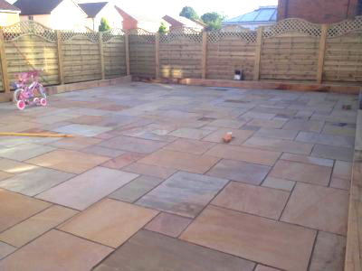 Patio contractors in Badbury